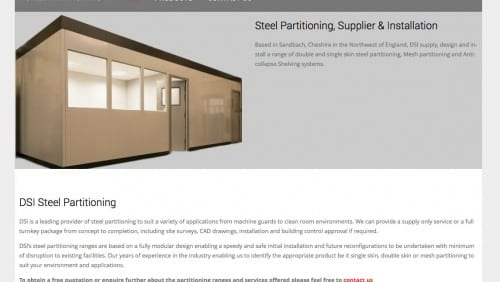 dsi steel partitioning
