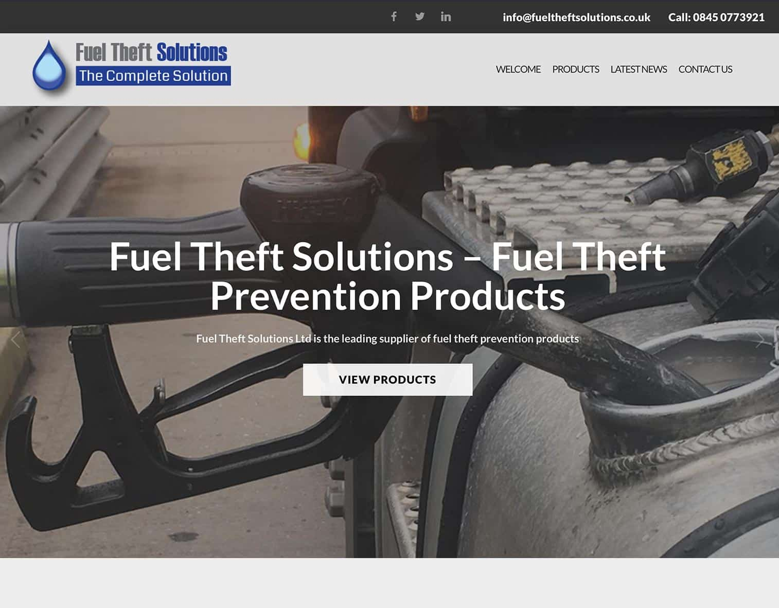 Fuel Theft Solutions UK Product Website