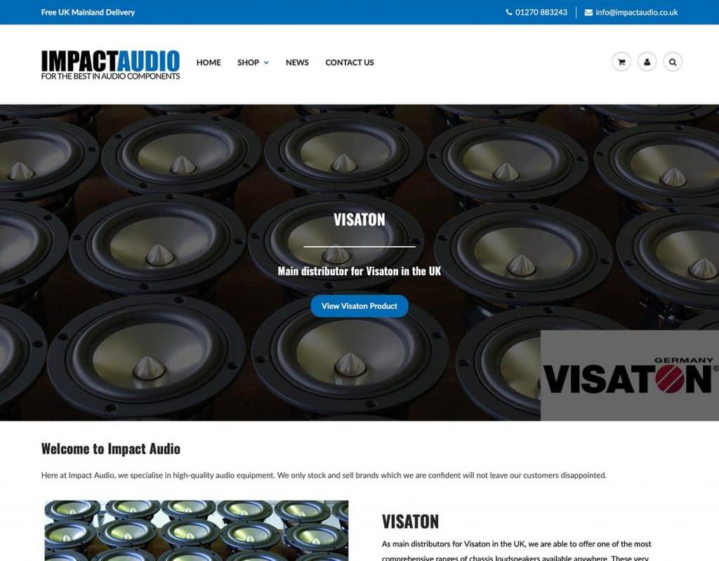 Impact Audio Website
