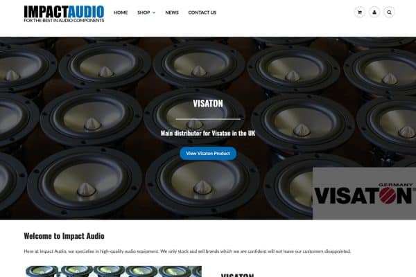 Impact Audio Website