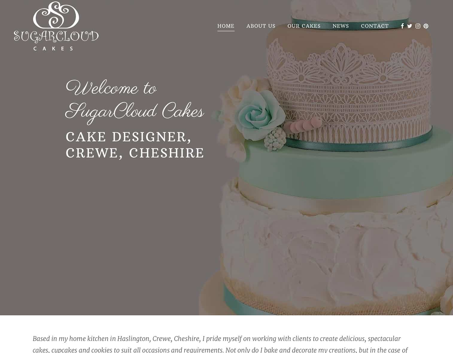 Sugarcloud cakes crewe website