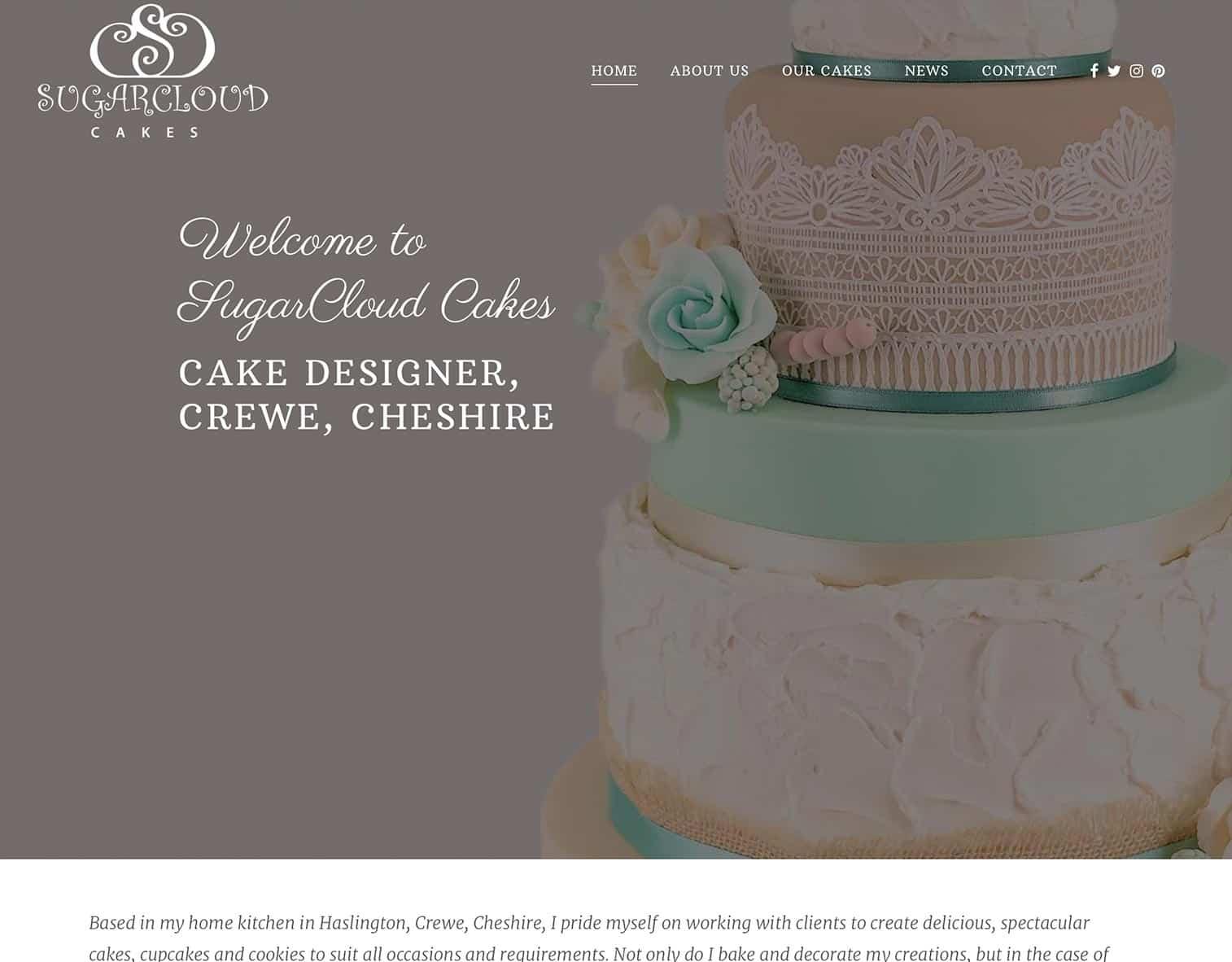 Sugarcloud cakes crewe website