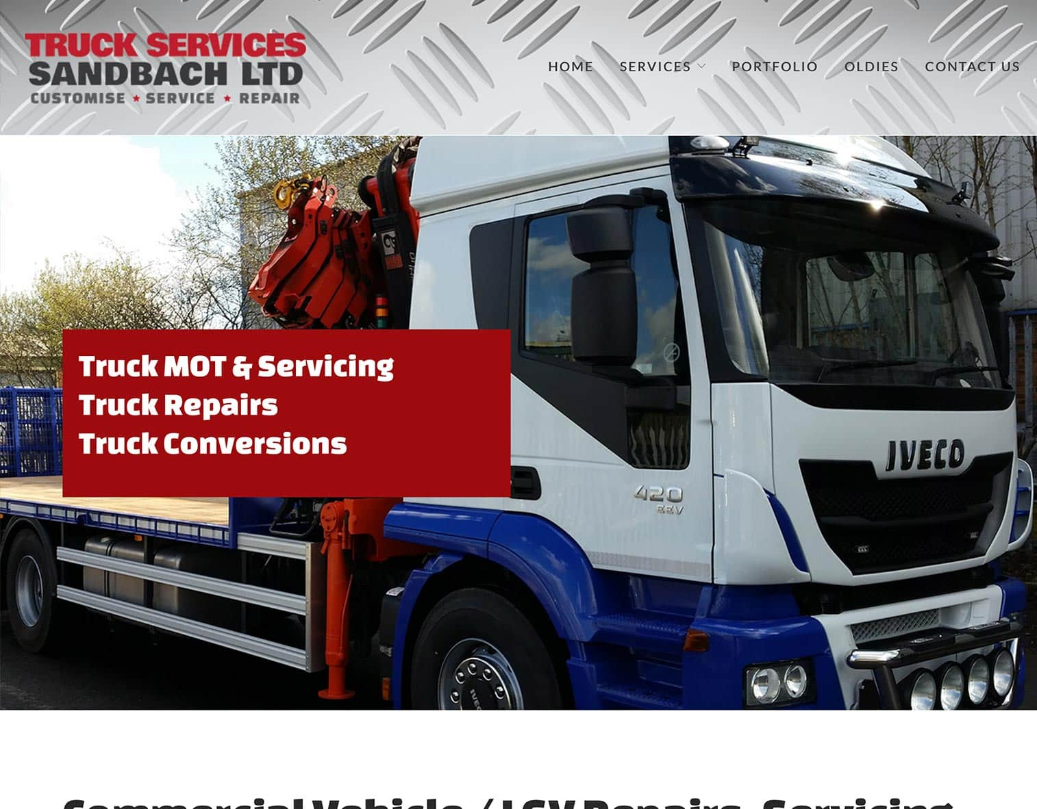 Truck Services Sandbach Website