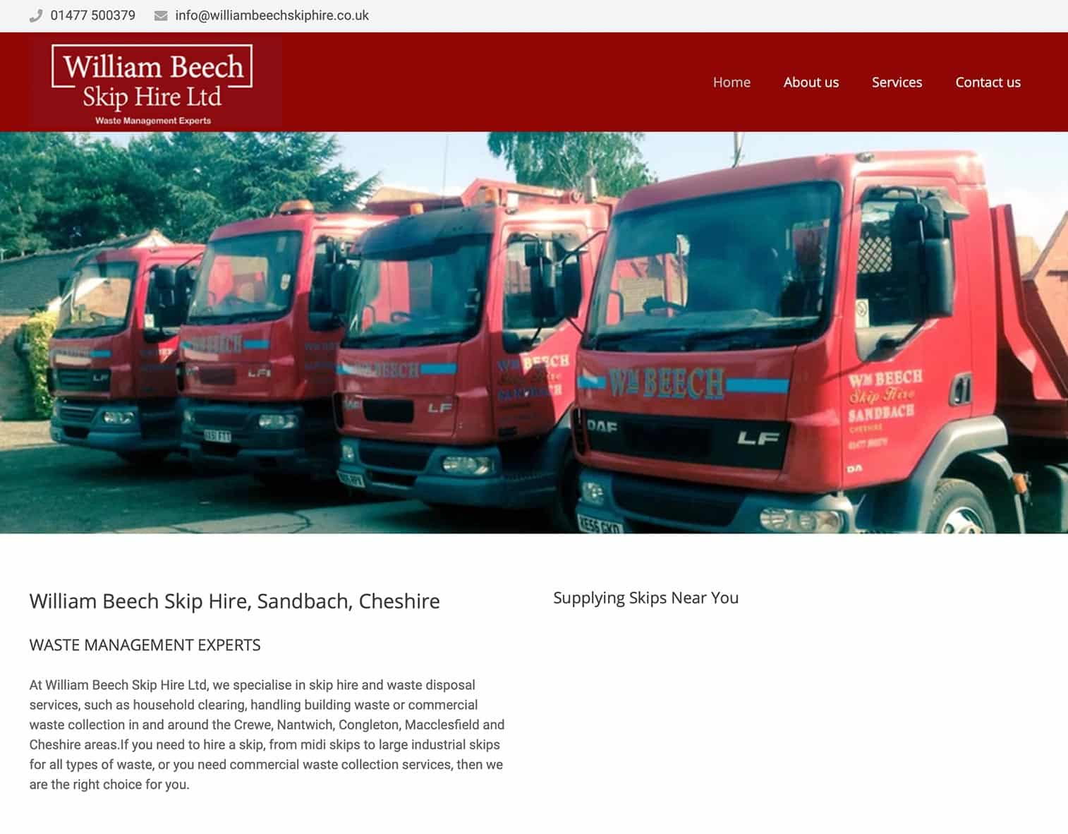 website-design-william-beech-skip-hire