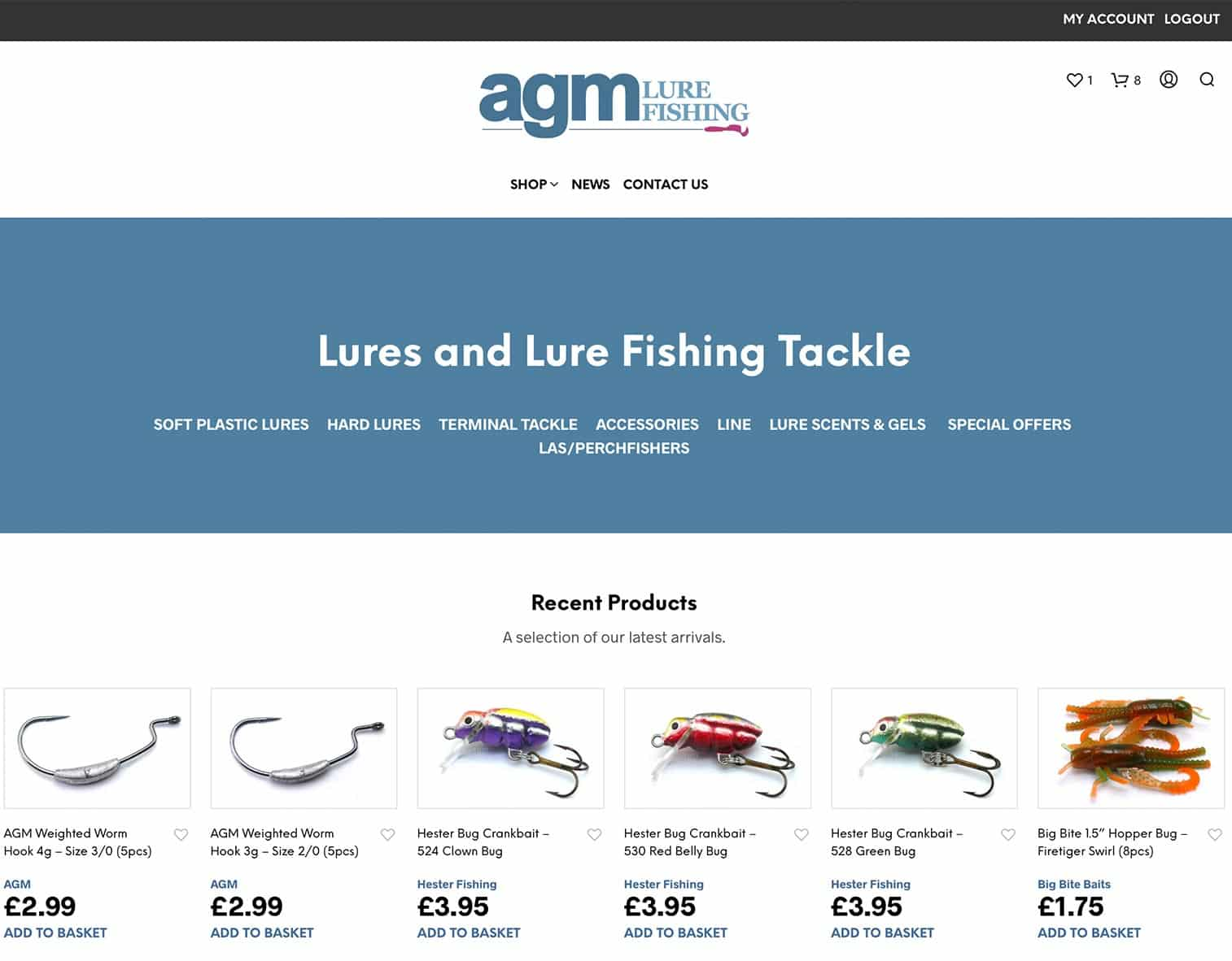AGM Lure Fishing Website