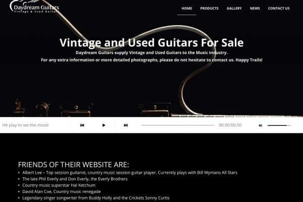 daydream guitars website