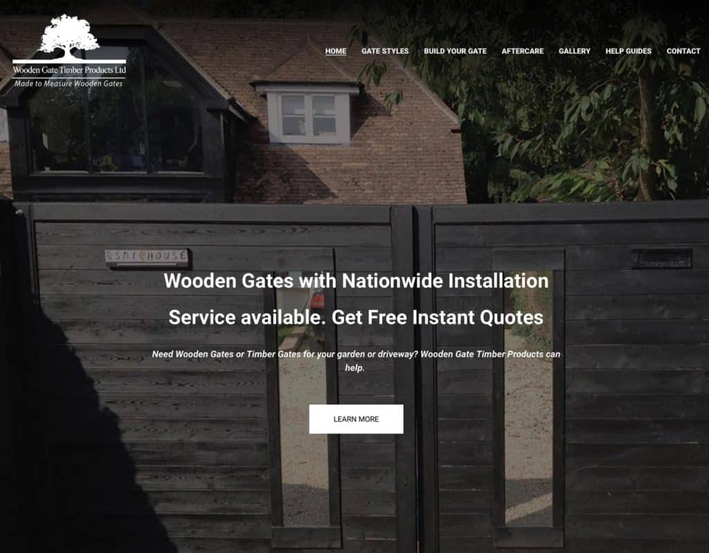 Wooden Gate Timber Products Website